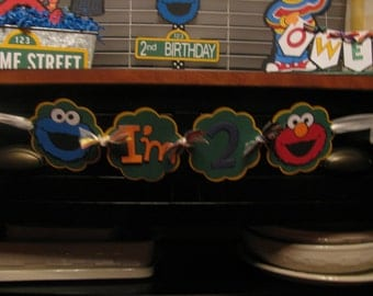 """Sesame Street Inspired I'm """"This Many"""" Banner"""