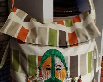 "Unique handmade bag ""African Masc"""