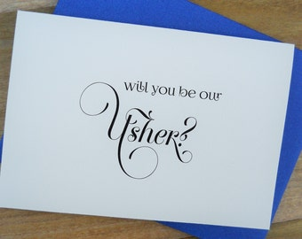 Will You Be Our USHER CARD, Wedding Party Card, Wedding Note Card, Ask Usher Card, Wedding Invitation, Usher Card, Wedding Usher, Usher Gift