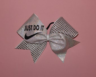 Just Do It Cheerleading Bow with Jewels