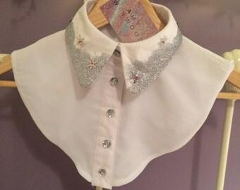 Dipped Glitter Snowflake Collar