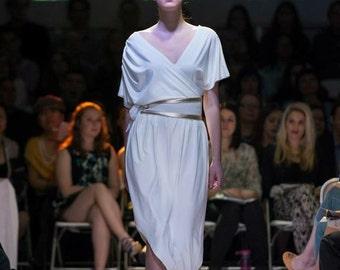 Asymmetrical Kimono Pegged Dress