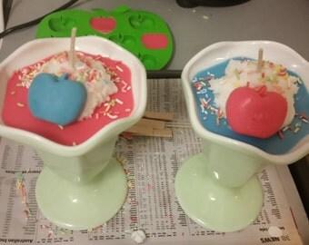 Double scented Icecream Sundae Candle