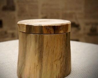 Rustic natural wood storage box