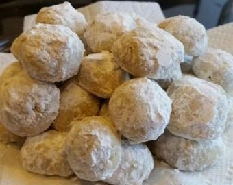 Mexican Wedding Cookies - Snowball Cookies - Homemade - 40 Cookies