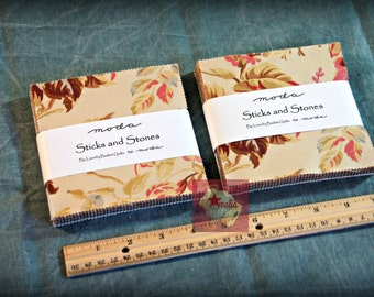 Lot 2 Moda Sticks and Stones by Laundry Basket Quilts Charm Pack