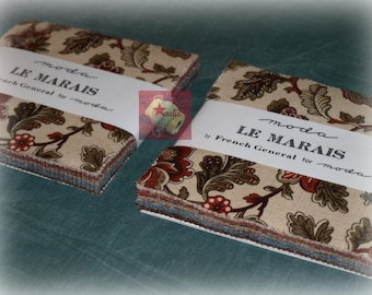 Sale! Lot 2 Moda Fabrics Le Marais Charm Pack by French General NEW