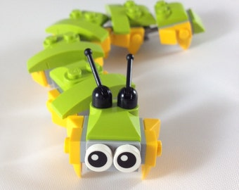 Green & Yellow Lego Caterpillar