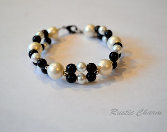 Mother of Pearl Double Strand Bracelet