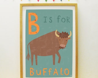 B Is For Buffalo poster/print (personalisable/customisable)