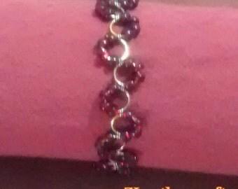 Red and gold slither bracelet