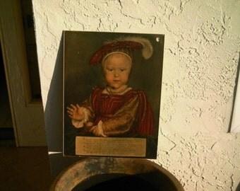 Vintage Art Print Portrait of Prince Edward Cira 1500 Prince of Wales