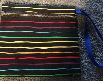 Rainbow zippy bag