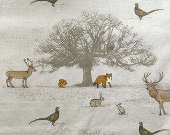 Woodland Animal Minky Fleece Baby/children's Blanket