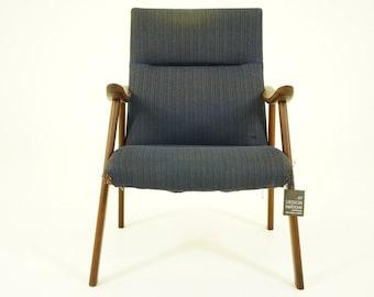 306-135 Danish Mid Century Modern Teak Lounge Arm Chair