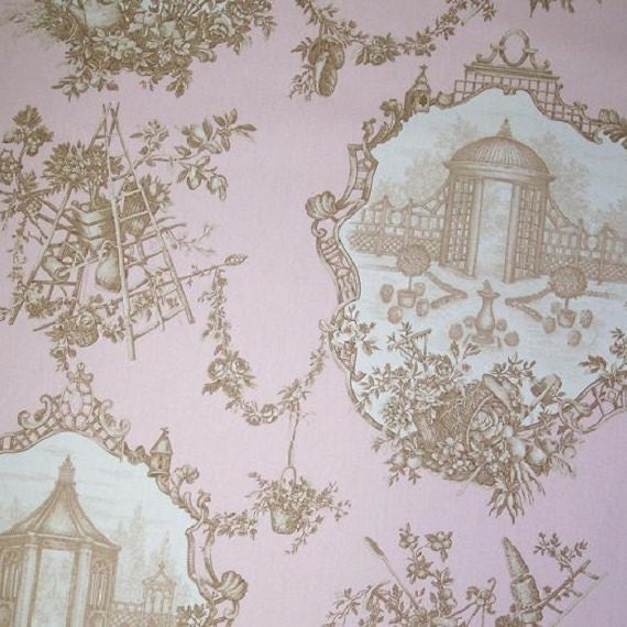 garden toile gazebo color powder rose fabric decorative. Black Bedroom Furniture Sets. Home Design Ideas