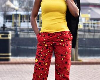 high waist trouser, ankara trouser, ankara pants, african print, african print trouser