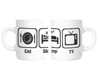 Tv Addict Couch Potato Gift Mug shan108