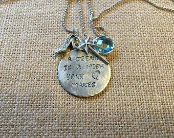 Cinderella charm necklace