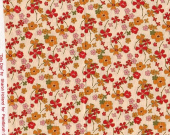 Flowers - 1 yd - Dilly Dally - Fabriquilt