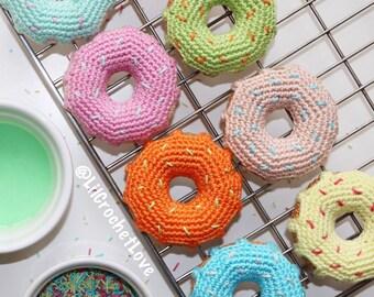 Crochet Donut/ Amigurumi Donut/ Pretend Play/ Play Food/ Crochet Food/ Amigurumi Food/ Baby Gift/ Donut Toy/ Teething Toy/ Room Decor