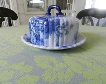 Saskia Blue Flow Cheese Dish