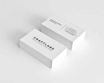 Simple Business Card Design Template - Photoshop Templates - Modern, Clean, Minimalist - Instant Download - v1
