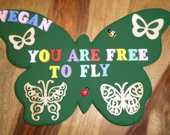 Vegan butterfly ornament