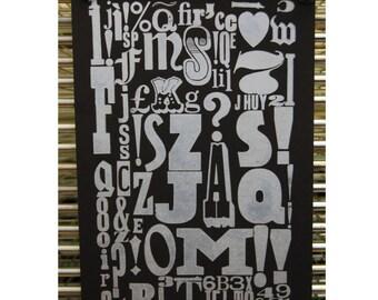 Alphabet - A3 Letterpress
