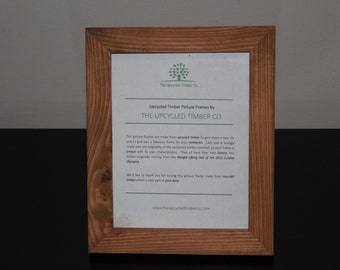 HALF PRICE !!!   Reclaimed Timber Picture Frame 9x7""