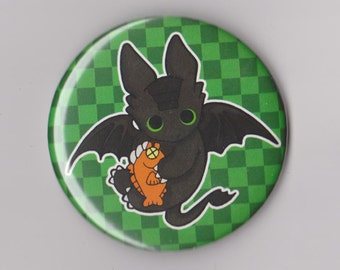 "How to Train Your Dragon Toothless- 2.25"" Pinback Button"