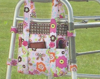 Walker tote....Walker bag....Side tote...made to order....handmade.