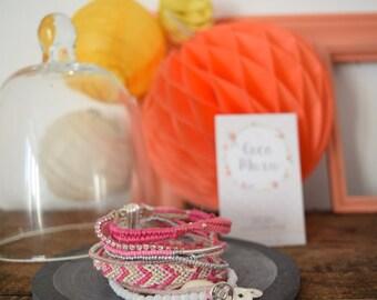 Bracelet manchette glace à la fraise