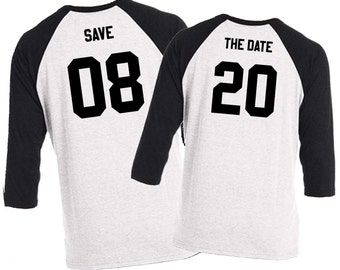 Save The Date Baseball Tee Set