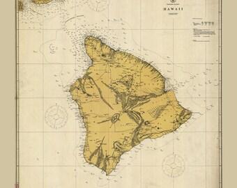 1917 Map of Hawaii