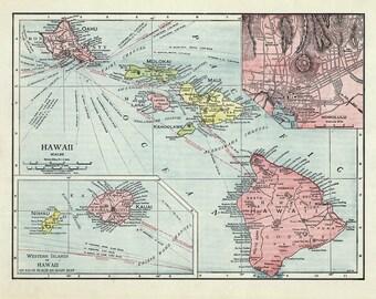 1912 Map of Hawaii