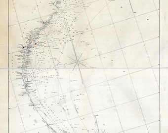 1861 Map of Cape Hatteras to Cape Florida
