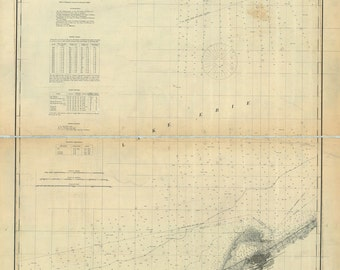 1892 Nautical Map of Presque Isle Erie to Long Point Erie County Pa