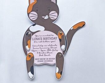 Moveable Kitten Invitation