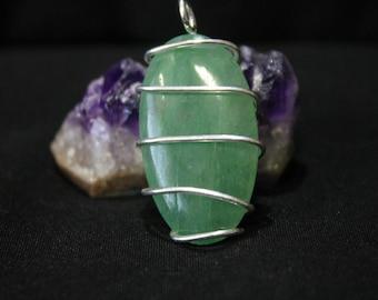 Green Aventurine Mini Silver Pendant