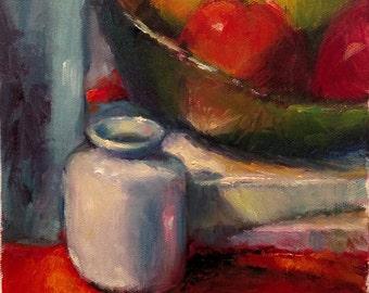 5, Still life (6x6 oil painting)