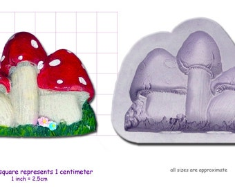 TOAD STOOLS TOADSTOOLS Craft Sugarcraft Fimo Resin Sculpey Silicone Mould