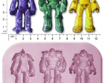 TRANSFORMERS ROBOTS x 3 Large Craft Sugarcraft Soap Fimo Mould