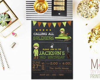 Army Birthday Party Invitation 2,army birthday invitation, army invitation, army party invitation, army birthday, military invitation