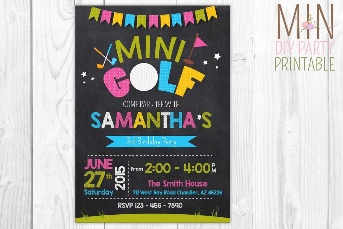 golf einladung einladung minigolf minigolf minigolf, Einladung