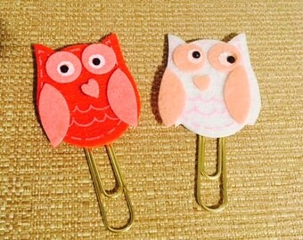 Handmade little owl clips? Just in time for Valentines Day!! Add these to your planner! 2.00 a piece