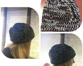 Beanie~Slouchy~hand knitted