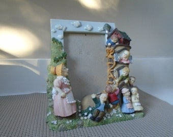 Old Woman Who Lived in a Shoe Ceramic Picture Frame