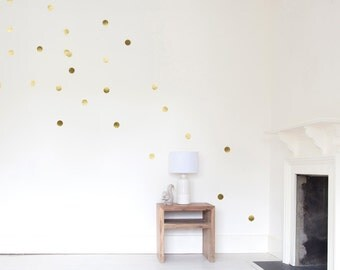 Gold - wall decals - dots - 24 set
