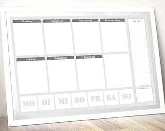 Wall calendar DIN A3 - weekly calendar